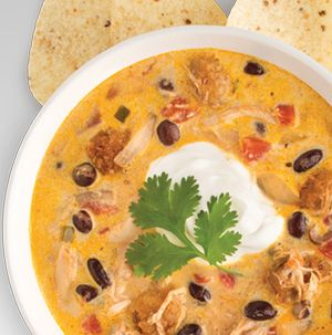Chicken-Chorizo Tortilla Soup has some kick to it thanks to chorizo and diced tomatoes with green chilies. We've also thrown in a jalapeno just for good measure. Serve with lots of toppings like chips, sour cream and salsa.