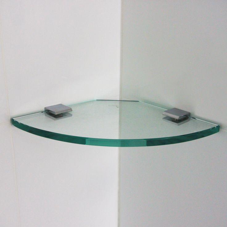 200x200mm Glass Corner Shelf