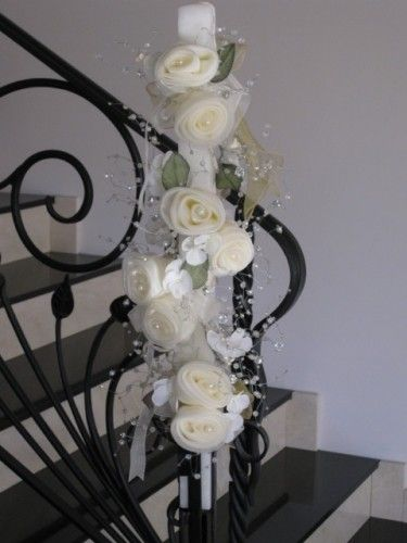 Charlotte Lambatha - Wedding Candle, $180.00 at Greek Weddings ~ http://www.greekweddingshop.com