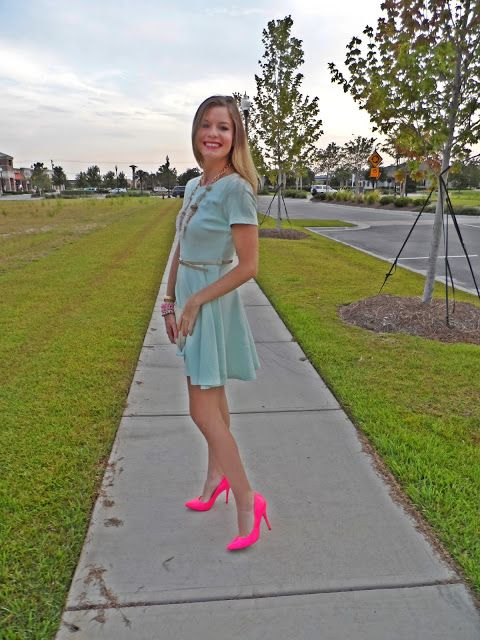 Love the splash of pink from Jessie - http://www.fashionlifeofmarlowe.blogspot.com/