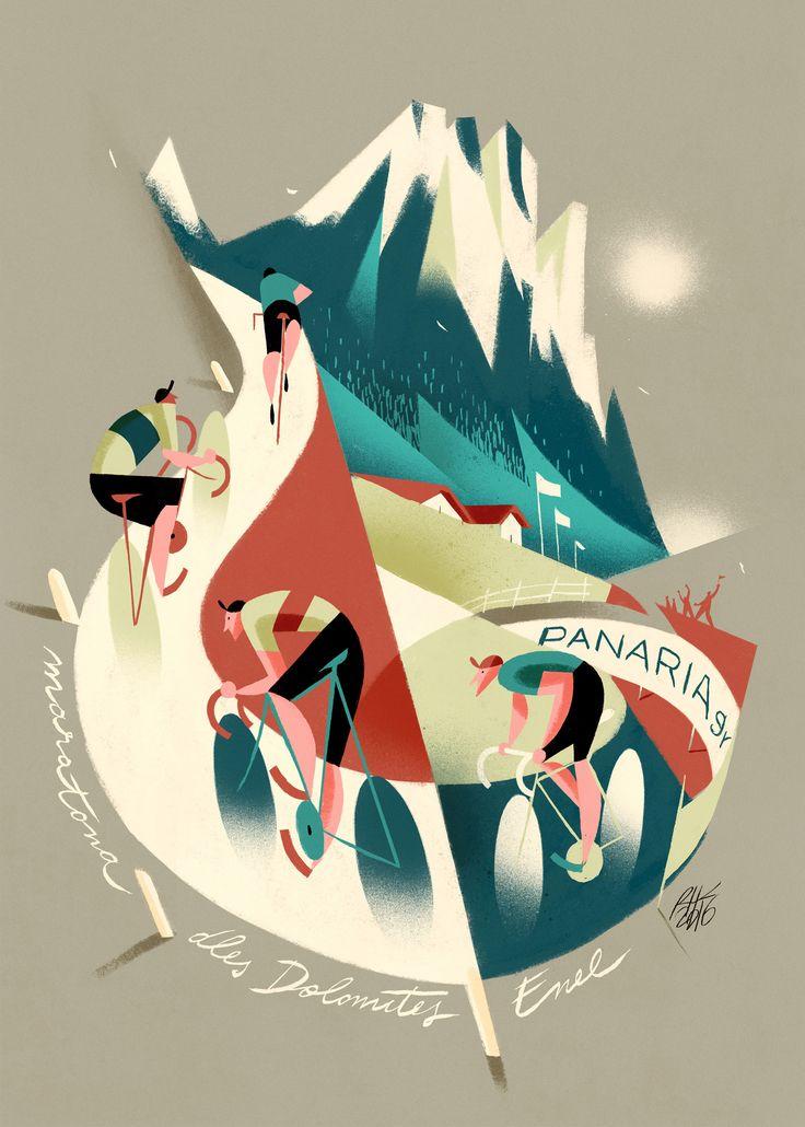 Quizá sea por haber nacido en la región montañosa del Piamonte italiano y compartir cuna con grandes ciclistas como Coppi o Girardengo, los dibujos de Riccardo Guasco homenajean con su estilo retro al ciclismo y sus míticas competiciones. El italiano comenzó su carrera en publicidad y aunque cada vez se decanta más por la ilustración […]