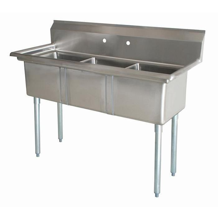 Stainless Steel 3 Compartment Sink 41 5 X 24 No Drainboards Atfaucet 3compartmentsink Stainle Kitchen Sink Design Stainless Sink Commercial Kitchen Faucet