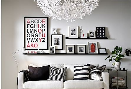 Ribba photoshelf (@ Ikea, in black & white)