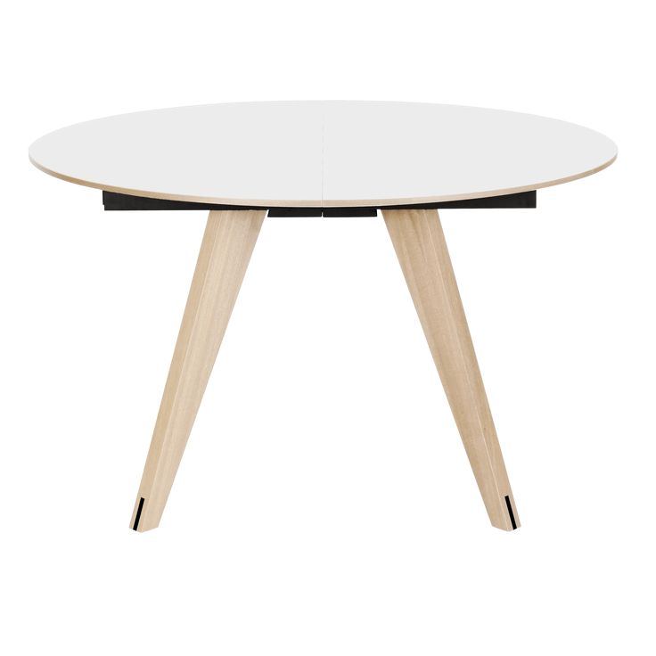 The Mood round dining table, white / ash by Bolia boasts a top finish in white laminate, with a frame finish in ash. Designed by Michael H Nielsen, this beautiful dining table seats 4-6, and is the perfect compliment to a minimalist dining room.