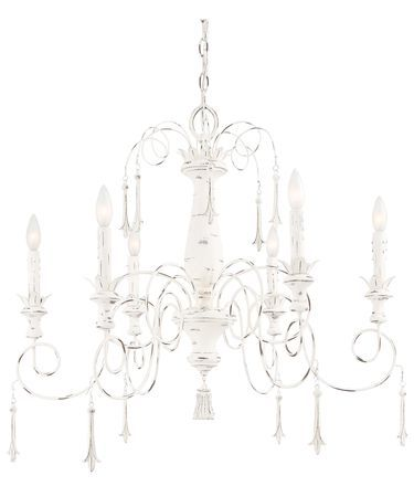 Minka-Lavery Jessica McClintock Accents Provence 6 Light Chandelier in Provencal Blanc  sc 1 st  Pinterest & 18 best french country lighting images on Pinterest | Candies ... azcodes.com