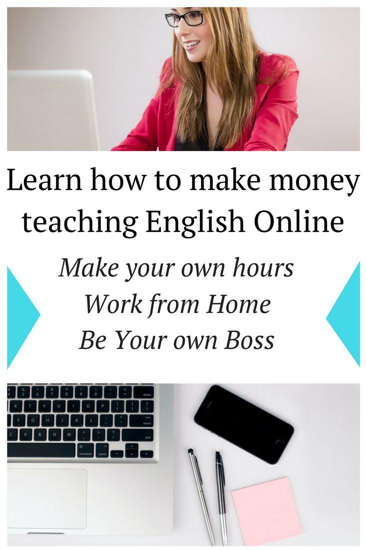 Learn how you can start earning money bu teaching English online!