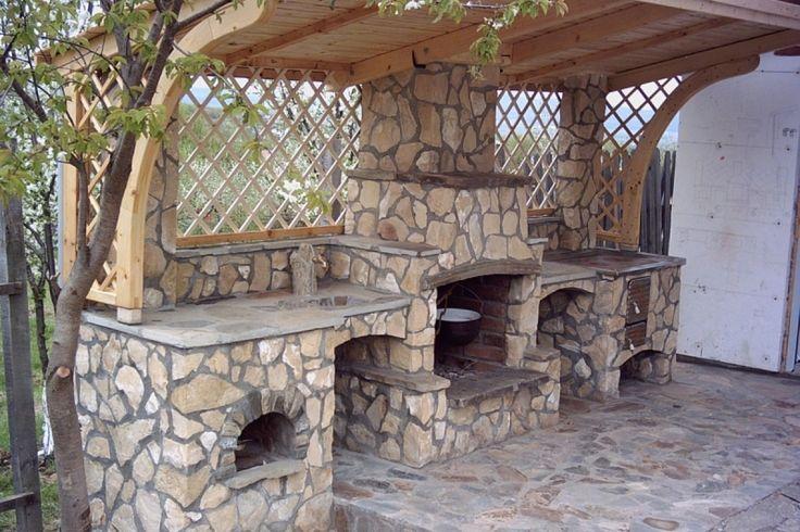 Construirea unui gratar placat cu piatra. Detalii pe BricoHub.ro