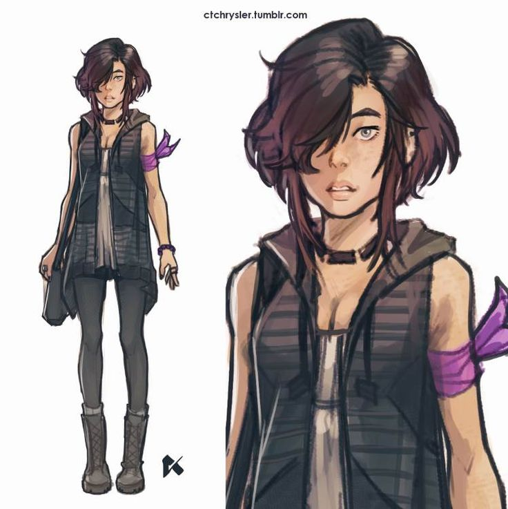 Character design thats been lurking in my head since Monday. I kinda want to use her in the Annie Mei Project