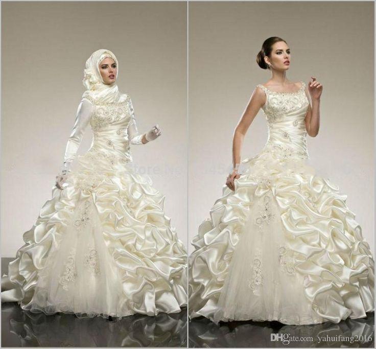 Beautiful Wedding Dresses A Line Beaded Applique Squarel Beach Sleeveless Floor Length Charming Spring