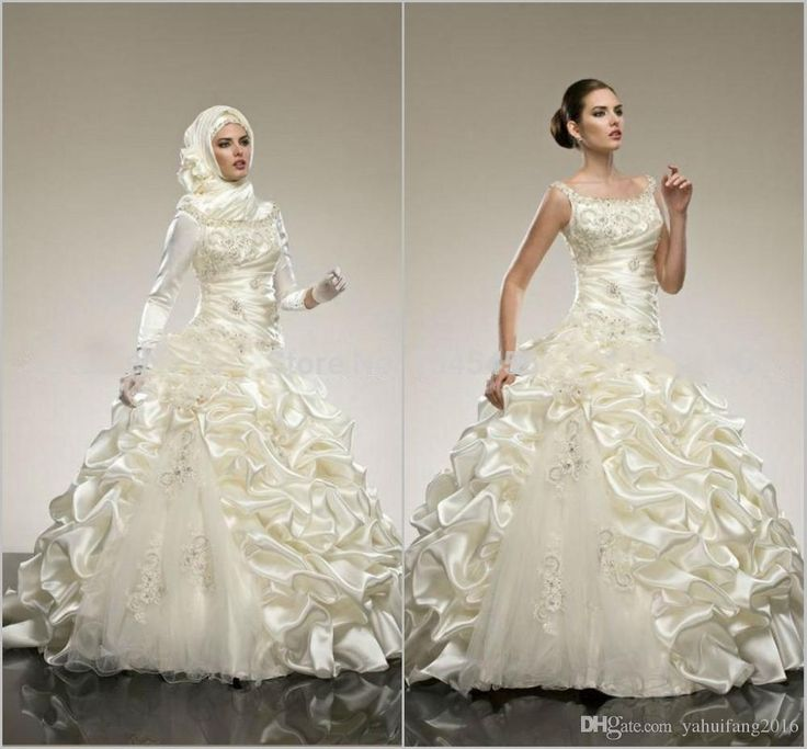Beautiful Wedding Dresses A-Line Beaded Applique Squarel Beach Wedding Dresses Sleeveless Floor-Length Charming Spring Ivory Bridal Gown A Line Wedding Dresses Long Sleeves Dress Arab Muslim Bridal Gowns Online with $216.39/Piece on Yahuifang2016's Store | DHgate.com