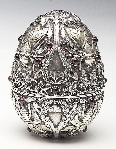 Russian art nouveaux | Imperial Russian Art Nouveau Silver Egg, Moscow, ... | Victorian Silv ...