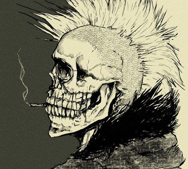 punk skull - Google Search