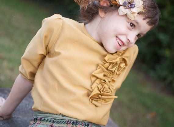 Meisje Blouse zijden top vakantie kleding speciale door JillyAtlanta