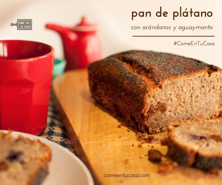 #RECETA ▲Pan de plátano▲ http://comeentucasa.com/receta/pan-platano/   El pan que quiso ser keke, el de toda la vida con un toque cítrico del aguaymanto y arándanos. Perfecto para el desayuno, postre, lonche o snack de medianoche :o  ►► #ComeEnTuCasa #Postre #Snack #Desayuno #Lonche #recipe #comidacasera #homemade #food #foodporn #foodpic #instagood #fresh #ñam #yum #noms #foodie #banana #bread #blueberry #goldenberry #plátano #aguaymanto #arandanos