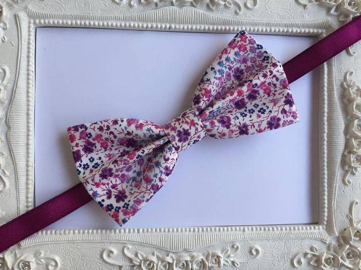 Noeud Papillon Tissu Liberty violet - homme : Cravates par fleurs-de-provence