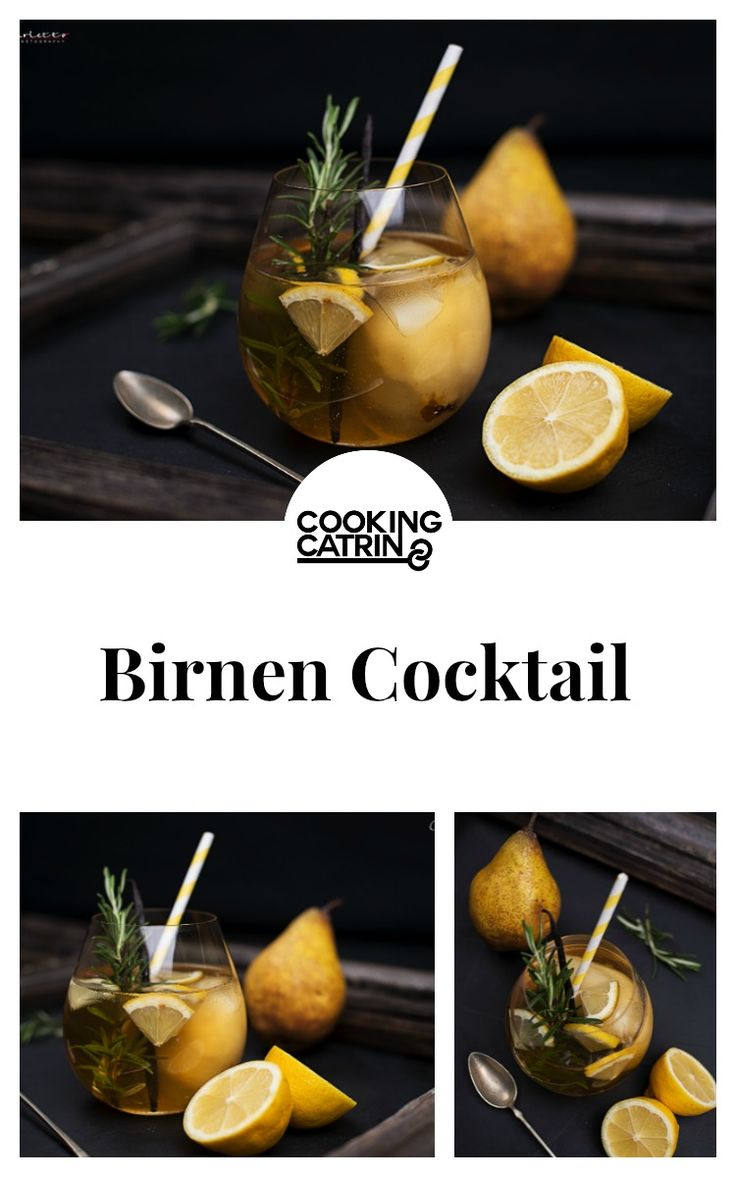 rum, pear, cocktail, drink, refresh, Getränk, Birnen, Zitrone, lemon, rosemary, Rosmarin, Alkohol