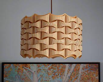 Wood Pendant Light - Modern Chandelier Lighting - Hanging Dining Lamp -Ceiling Light Fixture-Eco-friendly-design lamp-Lighting-pendant light