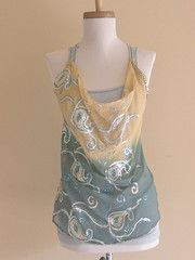 Sunshine and Ocean Sequined Eco-Friendly Tank (Size Small)