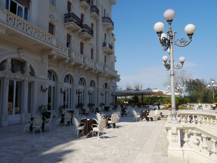 Sun terrace at the gorgeous Grand Hotel Rimini...