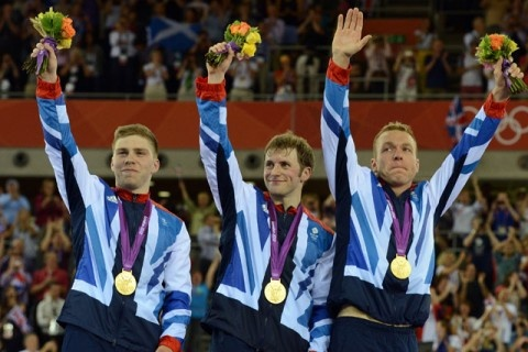 Olympic Medal Winners 2012 - Team GB cyclists