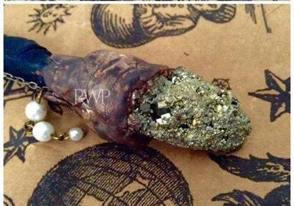 Forest Witch Wand - Magic Wand Witchcraft Wicca Paganism Sea Blue Witch Druidry