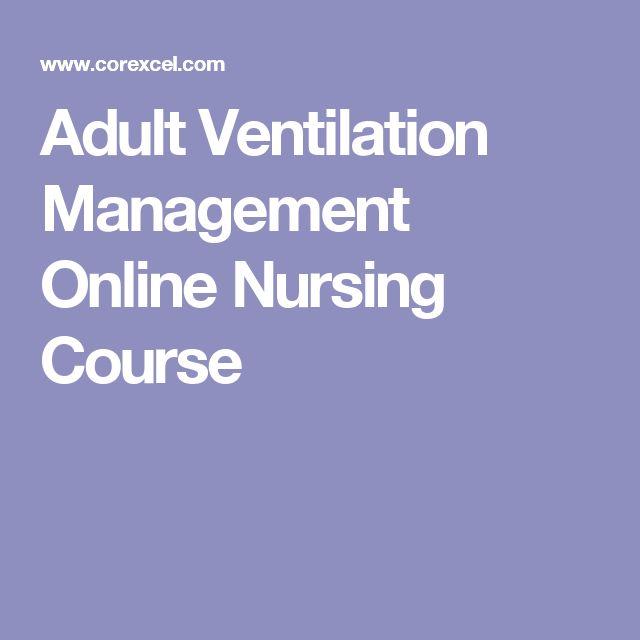 Adult Ventilation Management Online Nursing Course