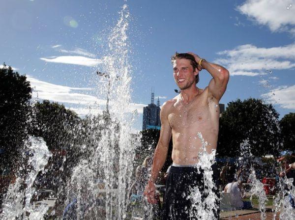 Andreas Seppi in Melbourne
