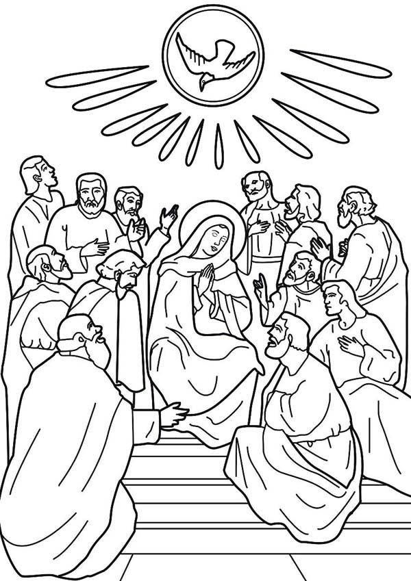 pentecost coloring pages for preschoolers - photo#2