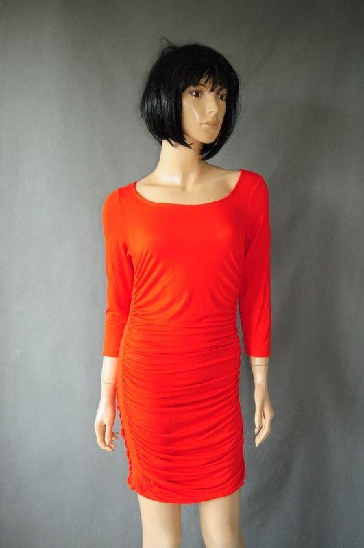 00cde1b4bf H M Basic sukienka pomarańczowa r. 36   38 - vinted.pl