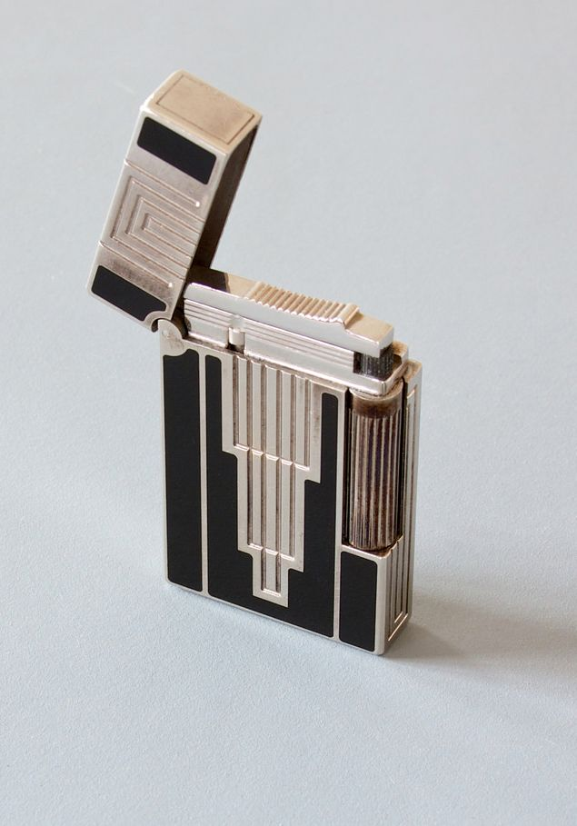 S.T. Dupont, Lighter, 1930. Silver plated