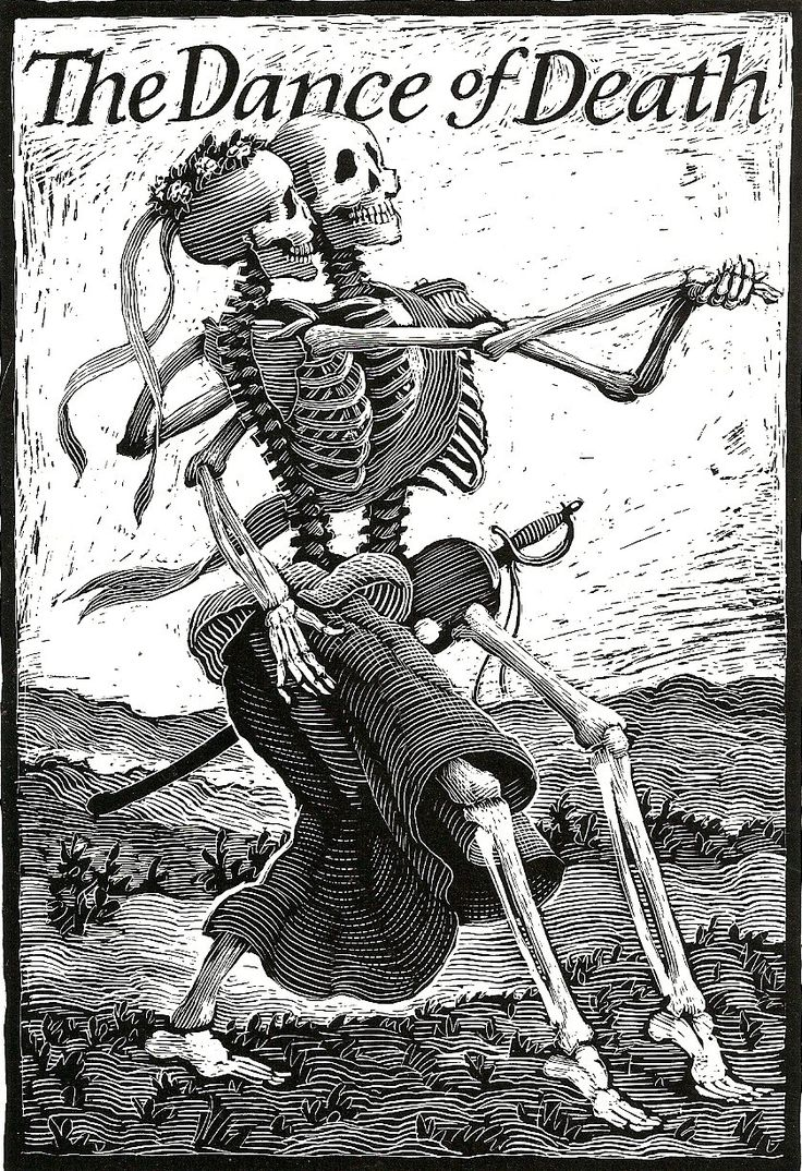 'The Dance of Death' Print by Time Traveler's Closet on Etsy