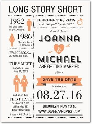 only send out invites - maybe online save the dates?                                                                                                                                                                                 More