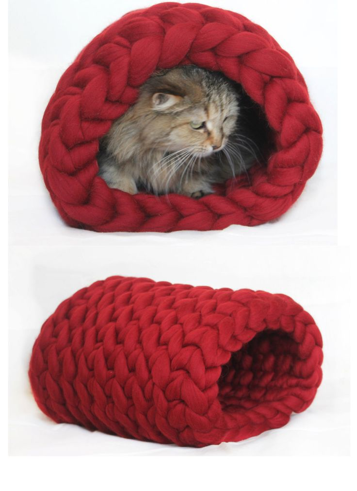 Chunky Knit Patterns Cat Bed -- You can get additional ...
