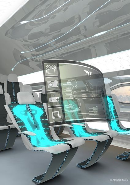 The seat that knows all about you, coming to an aircraft near you soon. Picture: Airbus