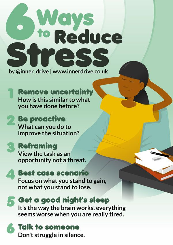 6 Ways to Reduce Stress   Ways to reduce stress, Stress ...