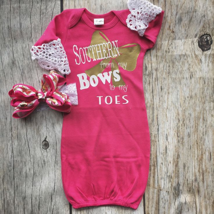 25 unique baby presents ideas on pinterest diy designer baby southern girl gown set baby girl gown pink and gold infant gown take negle Image collections