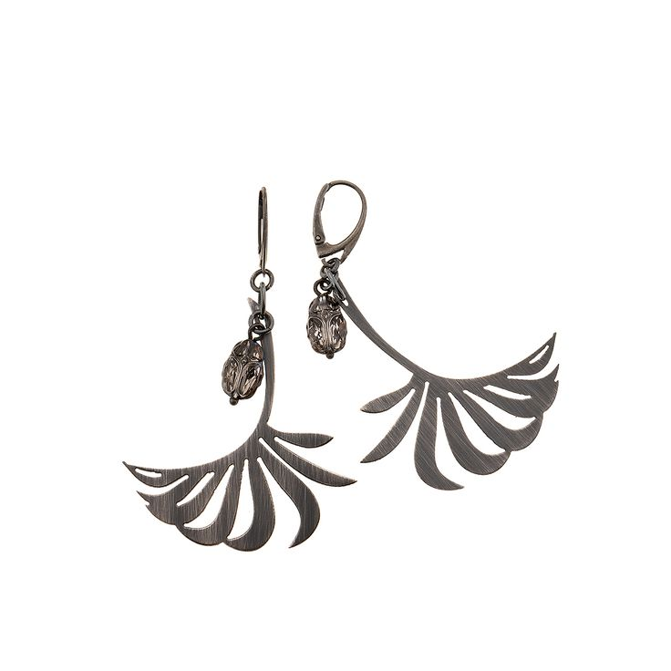 Howea forsteriana. Earrings from INSECTS collection by Anna Orska.