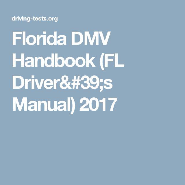 Florida DMV Handbook (FL Driver's Manual) 2017