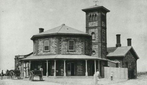 Port Dock Railway Station 76 Lipson St,Port Adelaide in South Australia (year unknown).