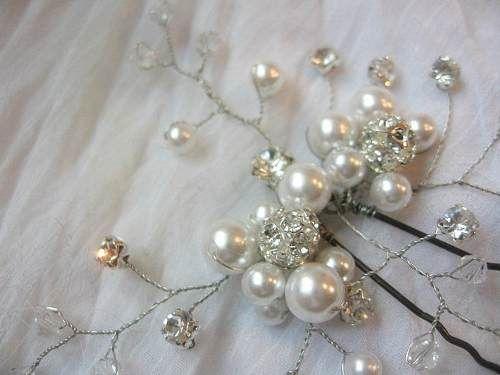 como hacer tejido con perlas tocados de novia - Buscar con ...