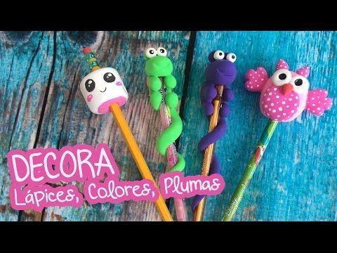 3 ideas para decorar con Foamy Moldeable Lápices, y Colores :: Chuladas Creativas - YouTube