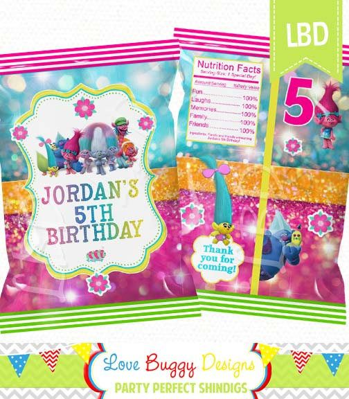"Custom Treat Bag Printable, Candy Bag, Chip Bag, Party Bags | Baby Shower |  Birthday | 4.5"" x 7""- YOU PRINT"