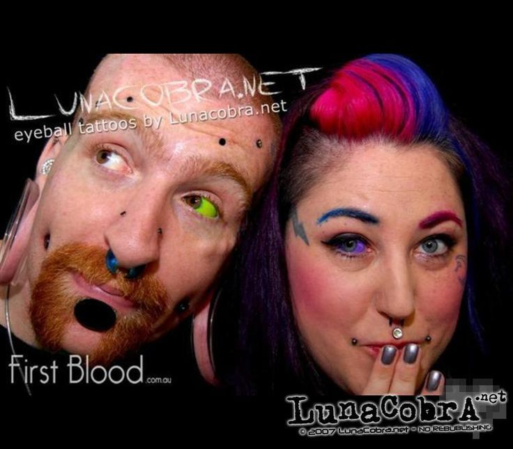 Sclera tattoos on Joeltron and Naepier by Howie