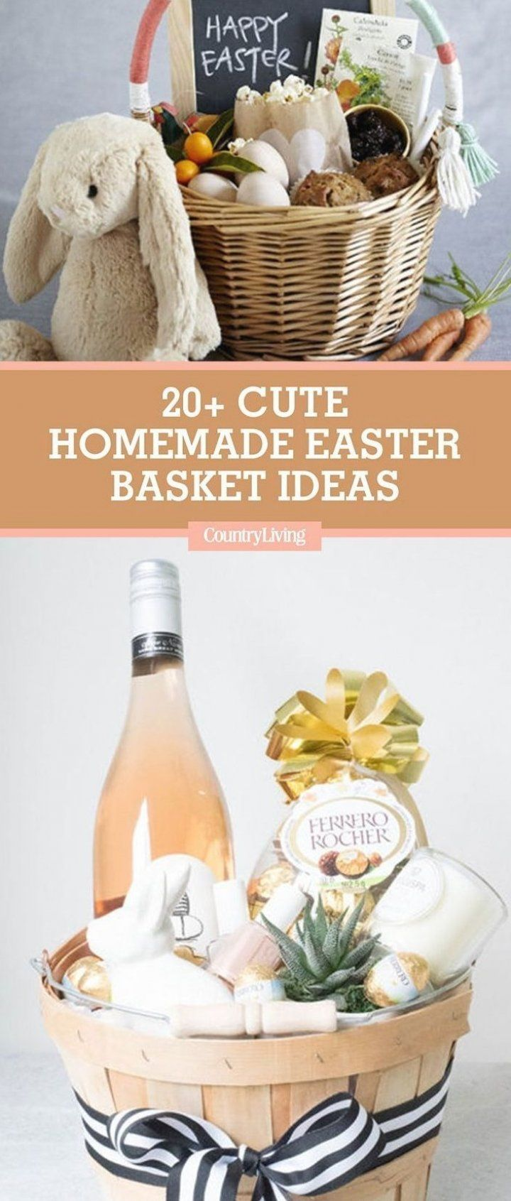 20 Cute Homemade Easter Basket Ideas Easter Gifts For Kids And Adults Giftsforkids Coolgift In 2020 Homemade Easter Baskets Easter Basket Diy Easter Gifts For Kids