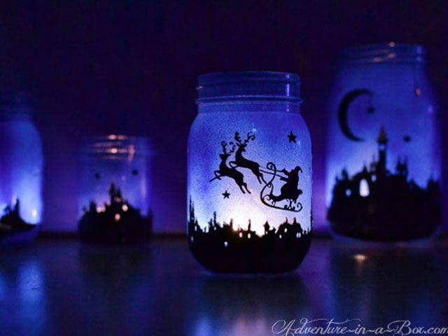 Kids will be totally enchanted by these magical Christmas scenes.  Get the tutorial at Adventure in a Box.   - CountryLiving.com