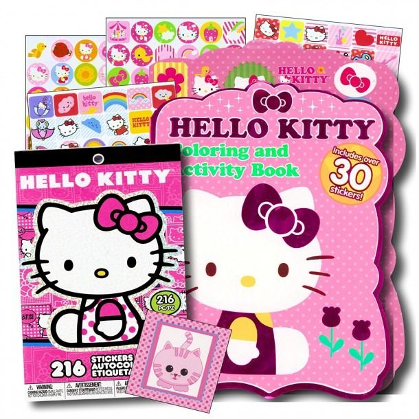 Hello Kitty Coloring Book With Stickers Kitty Coloring Free Disney Coloring Pages Hello Kitty Coloring