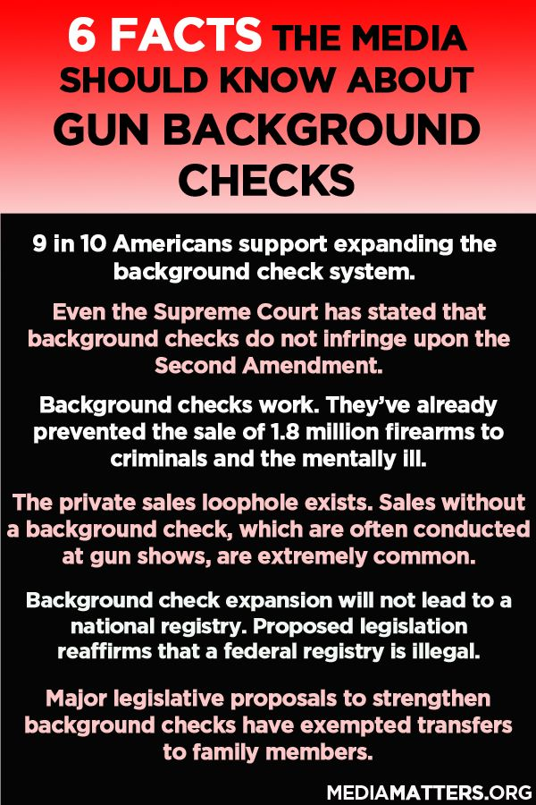 What the media should keep in mind when reporting on gun background checks