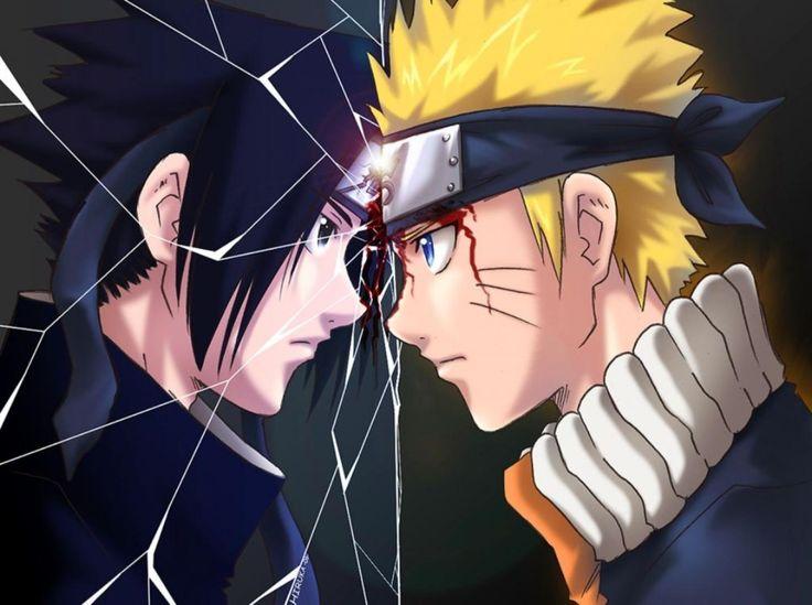 Naruto Vs Sasuke mirror Wallpaper