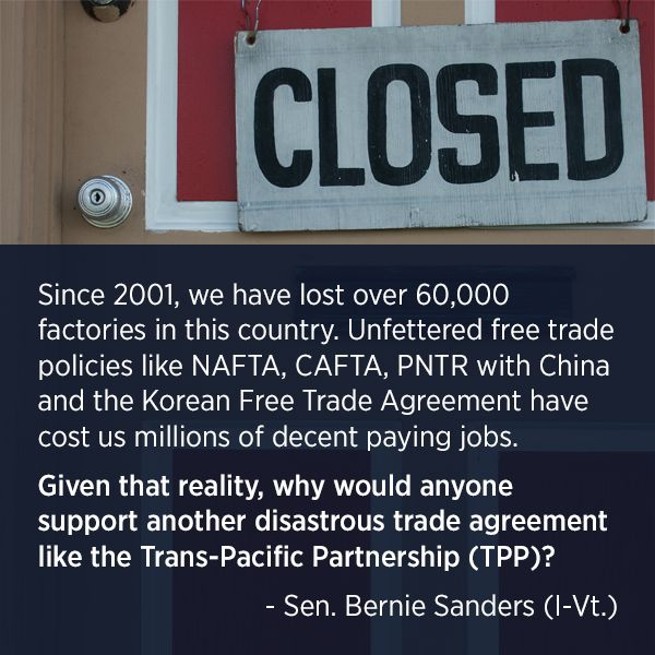 TPP and TTIP will have disastrous effects. We must say NO. http://www.citizen.org/TPP www.globaljustice.org.uk/ttip