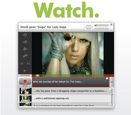 Lady Gaga learning English at www.englishcentral.com